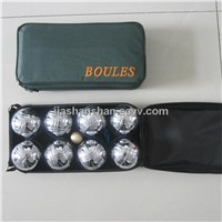 boules ball set in nylon bag