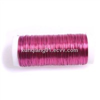 coloured craft wire/colored copper wire