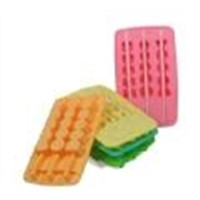 cute silicone ice tray with sticker