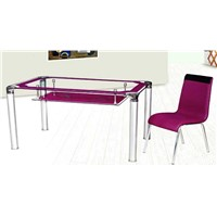 elegant glass table and chairs xydt-260 & xydc-238