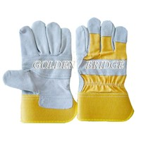 gray cow leather Industrial worke glove