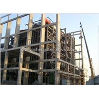 large steel structure building design and install manufacturer