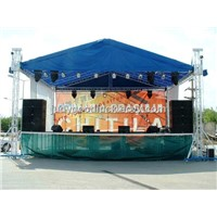 lighting truss with stage offered by guangzhou aoka stage truss