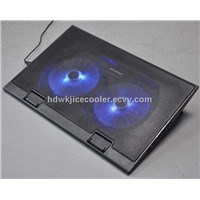 notebook cooler with two fans and blue led