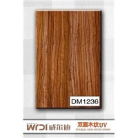 orange wood grain mdf board for kitchen cabinet