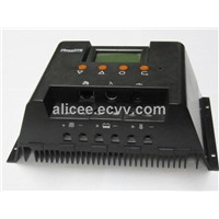 solar charge controller with lcd screen used in solar power system