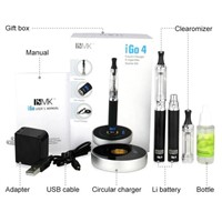 top selling circular charger igo 4 electronic cigarette with ce4 atomizer and ce6 clearomizer