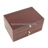 Luxury Wooden Matte Finish Jewelry Storage Packing Display Gift Box