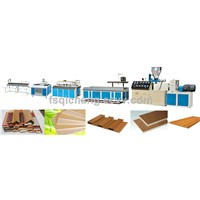 wpc plastic wood profiles for decorating indoors extruder