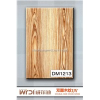 yellow UV wood grain board for kitchen cabinet