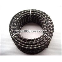 diamond wire saw for cutting reinforced concrete, marble and granite