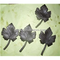 wrought iron cast steel leave ornaments