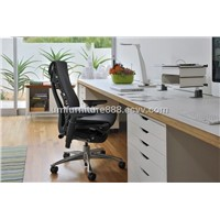 Herman Miller Embody Ergonomic Chair Polished Aluminum Chrome Black Fabric