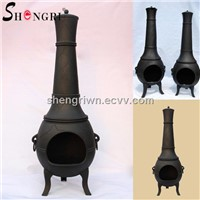 Garden Cast Iron Chiminea for BBQ and warmth