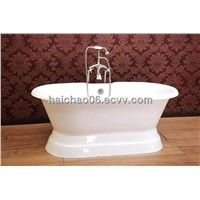 Cast iron bathtub with pedestal