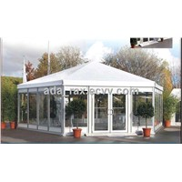 Polygon High Peak Tent with glass wall