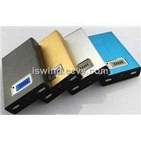 12000mAh high capacity Li-ion battery use power bank for mobile and pad