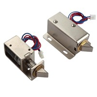 12V/24V DC solenoid lock for door lock with bolt