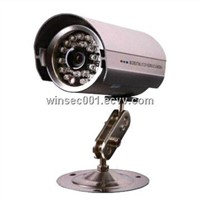 20m IR Weatherproof IR Camera with Silver/Black Metal Shell
