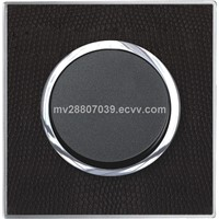 3*3 Leather Plate Switch 3G2W, CE approved, for hotel