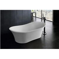 "67"" Oval Freestanding Acrylic Tub"
