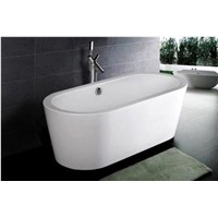 "71"" Oval Freestanding Acrylic Tub"