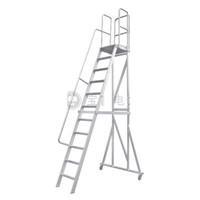 Aluminum Platform Detachable Handrail Ladder