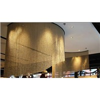 Anodized aluminum chain link curtain