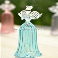 Beautiful Glass Angel Bell Home Decoration Glass Angel Friend Gift