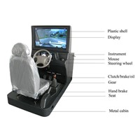 Car driving training simulator