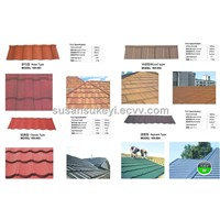 Colorful stone-coated metal roofing sheet/Tiles and accessories