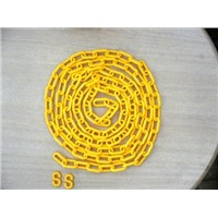 Continuous Plastic Decorative Barrier Chains 8mm/6mm x 3m/pc With 2 S Hooks