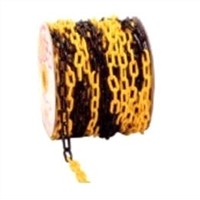 Continuous Plastic Yellow with Black Decorative Barrier Chains 6mm x 3m With 2 S Hooks