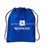 Custom Logo Imprinted Drawstring Bag 190T Polyester Drawstring Backpack