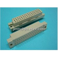 DIN connector,din41612 connector 32 pin female 2 or 3 rows