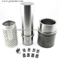 Demountable ball bearing guide pin and bushing for auto moulds