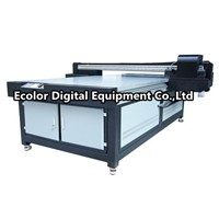 Digital UV Wide Format Flatbed Printer, White Ink Glass, LED light fast drying plotter