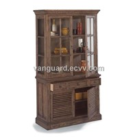 OAK Wooden/Veneer/Metal Display Cabinet