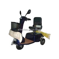 Electric Driving Dust Push Cart, driving mop push car