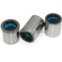 Headed ball bearing bushings with plastic retainer cages