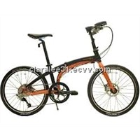 IOS S9 Orange Black Folding Bike Bicycle