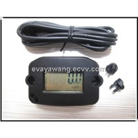 LCD Waterproof Gasoline Engine tachometer Digital Inductive Hour Meter,Record MAX RPM
