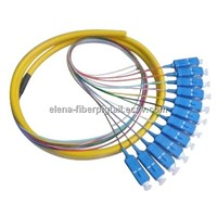 Life Time Warranty:  Round Type SC/upc 12 Core Optical Fiber Pigtail