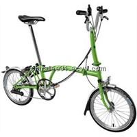 M6L-NYC folding bike, 6-speed, Comfort Handlebar with Fenders