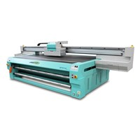UV FR2512 Flatbed and Roll to roll printer