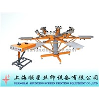 Micro registration manual textile screen printer