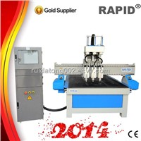 Multi-heads pneumatic atc cnc wood carving machine