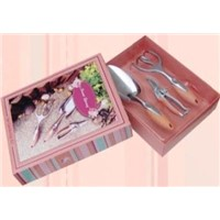 New 3 Pieces Garden Hand Tool Set Kit Gift Box Bypass Pruner Trowel Cultivator