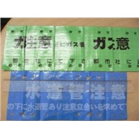 PE Folding Folded Underground Warning Sheet Tape