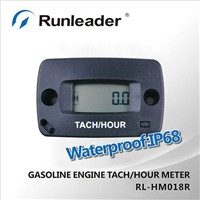 Record Max RPM IP68 Waterproof Tachometer Hour Meter,resettable